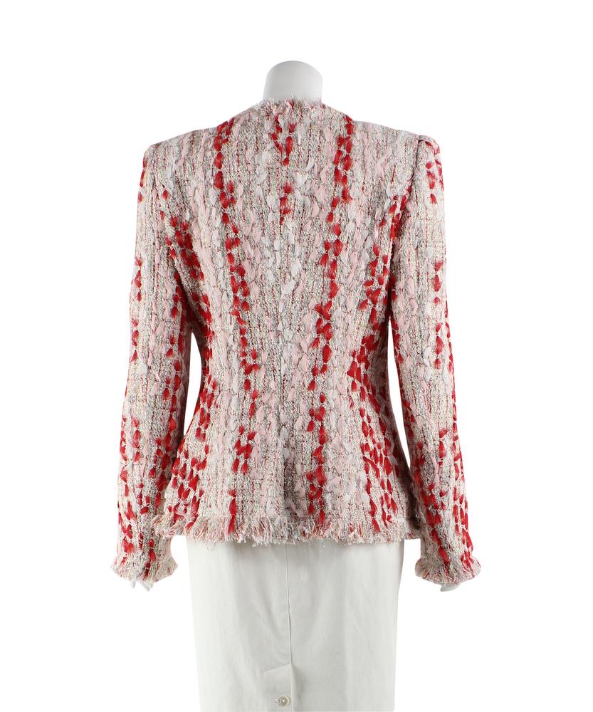 Multicoloured tweed jacket of Alexander McQueen