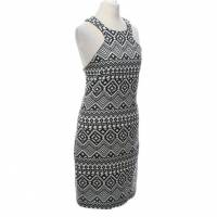 Parker Dress Black and White Angle2
