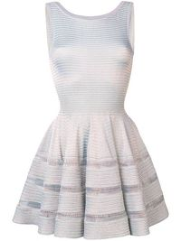 ALAÏA SILVER FLARED DRESS Angle1