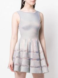 ALAÏA SILVER FLARED DRESS Angle3