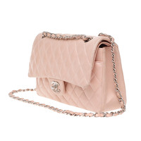Chanel Classic Flap Bag Leather in Pink Angle2
