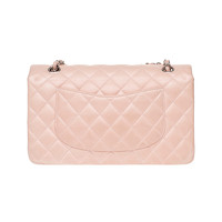 Chanel Classic Flap Bag Leather in Pink Angle3