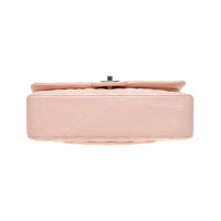 Chanel Classic Flap Bag Leather in Pink Angle7
