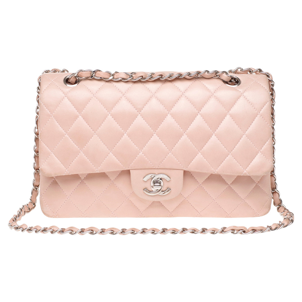 Chanel Classic Flap Bag Leather in Pink