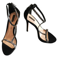 Schutz Sandals Leather in Black
