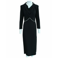 Yves Saint Laurent Dress Silk in Black Angle1