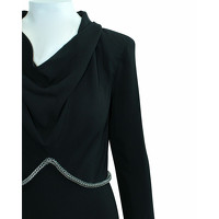 Yves Saint Laurent Dress Silk in Black Angle5