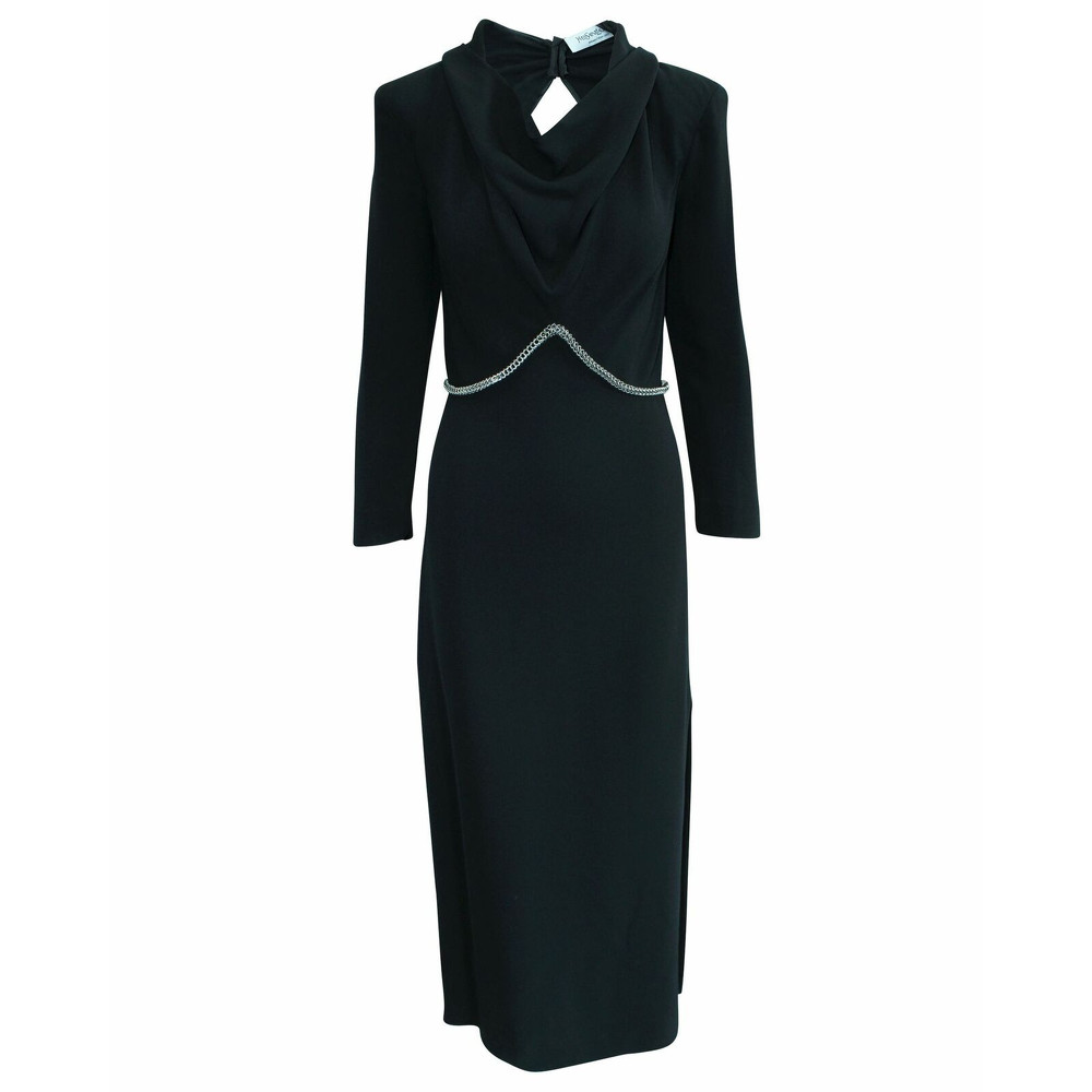 Yves Saint Laurent Dress Silk in Black