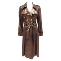 Christian Dior Jacket/Coat Leather in Brown Angle1