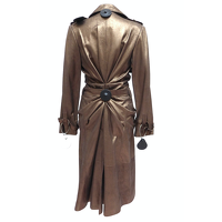 Christian Dior Jacket/Coat Leather in Brown Angle3