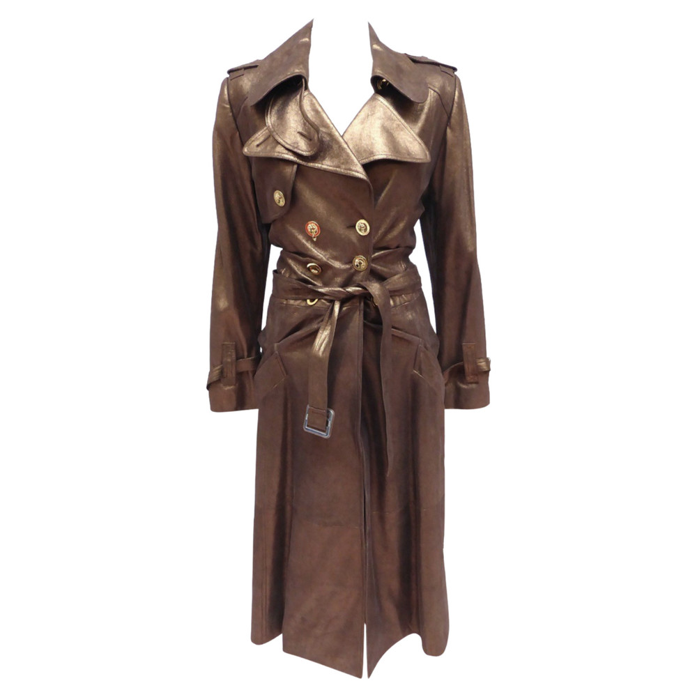 Christian Dior Jacket/Coat Leather in Brown
