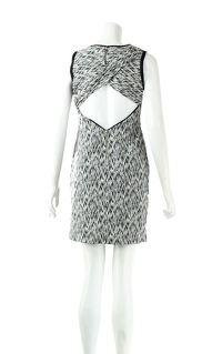 ROUND NECK KNEE LENGTH CASUAL DRESS Angle3