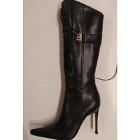 Casadei Boots Leather in Black Angle2