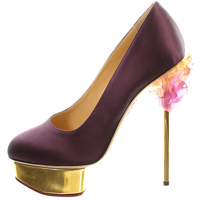 Charlotte Olympia: Cosmic Dolly Satin Heel/Pumps