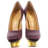 Charlotte Olympia: Cosmic Dolly Satin Heel/Pumps Angle3