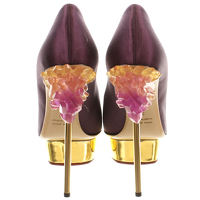 Charlotte Olympia: Cosmic Dolly Satin Heel/Pumps Angle4