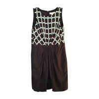 Michael Kors Geometrical and lined Midi Dress