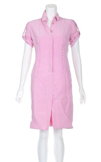 Versace Silk Slit Midi Dress