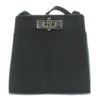 Sergio Rossi black Mini handle bag.