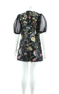 Red Valentino Jacquard Tulle Sleeves mini dress. Angle3