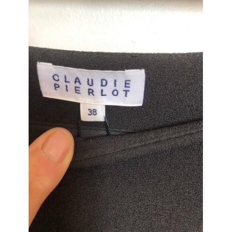 Claudie Pierlot asymmetrical black skirt with pomp