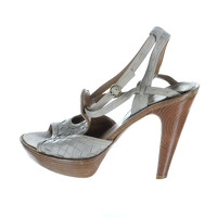 Bottega Veneta Grey intertwined High Heel Sandals.