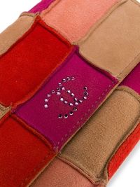 Chanel Red Patchwork Mini Crossbody Bag Angle3