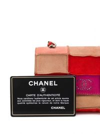 Chanel Red Patchwork Mini Crossbody Bag Angle5