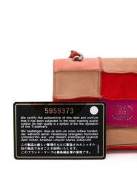 Chanel Red Patchwork Mini Crossbody Bag Angle6