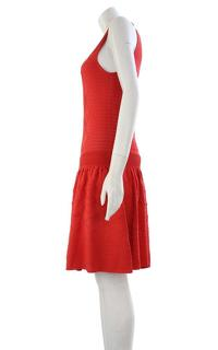 Temperley red midi casual dress.