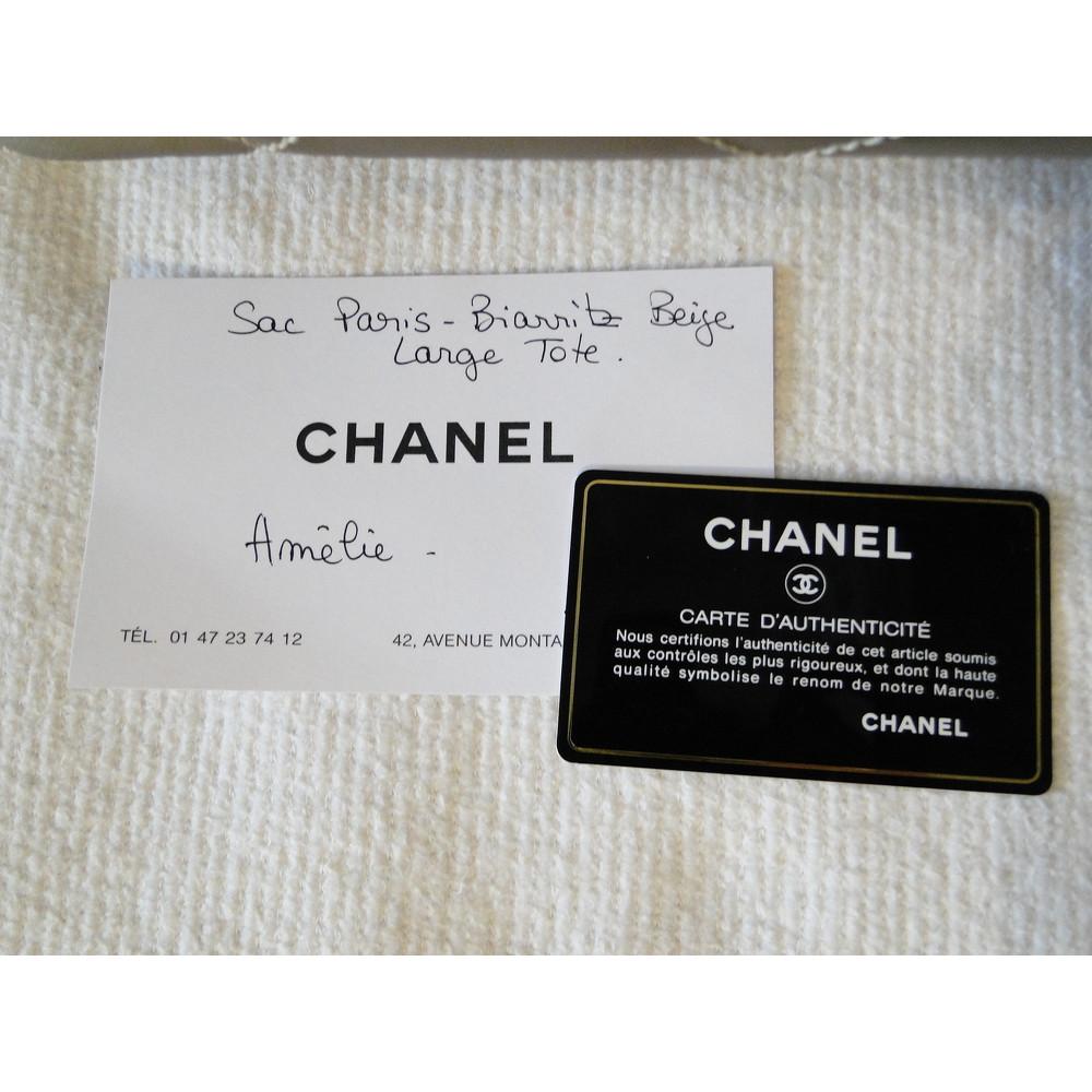Paris Biarritz Tote in Gold Chanel