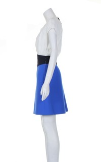Maje Multicoloured Knee Length Sleeveless Dress. Angle2