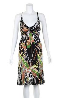 Missoni black printed sleeveless dress.