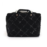 Chanel Black Quilted Boston Travel Bag