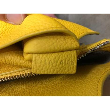 Céline Yellow leather Tri-Fold