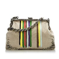 BOTTEGA VENETA STRIPED SHOULDER BAG