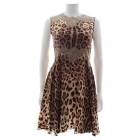 Dolce and Gabbana Dress Silk in Brown