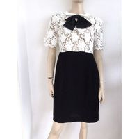 Claudie Pierlot pussy bow and lace dress Angle2