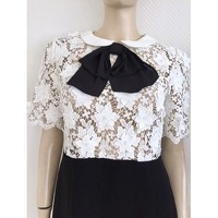 Claudie Pierlot pussy bow and lace dress Angle3