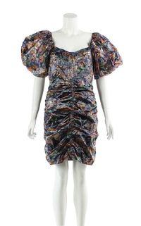 Isabel Marant Blend Oxalis Hawaiian Mini Dress