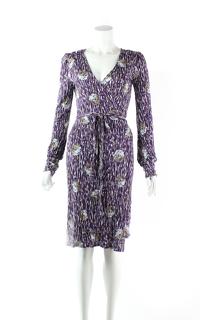 M Missoni Purple Printed Knee Length Casual Dress